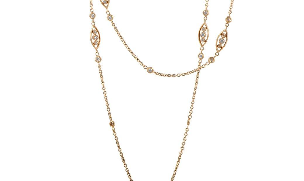 LB Exclusive LB Exclusive 18K Rose Gold Diamond Necklace