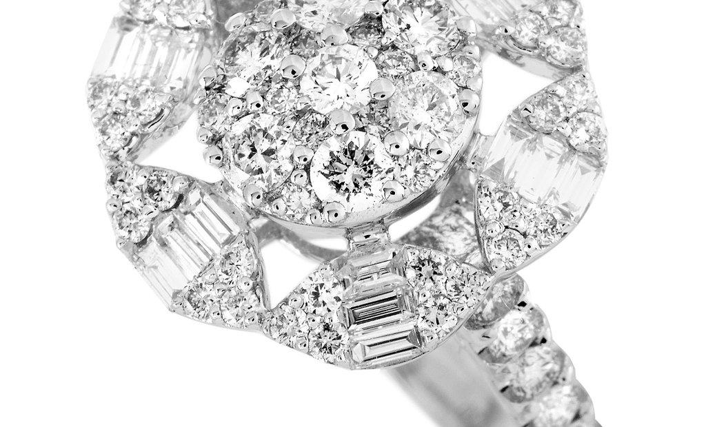 LB Exclusive LB Exclusive 18K White Gold 1.55ct Diamond Ring