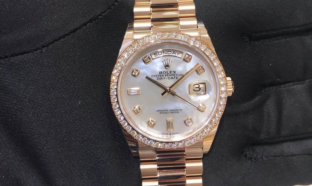 Rolex Day-Date 40 228345RBR 18 CT Pink Gold Alloy