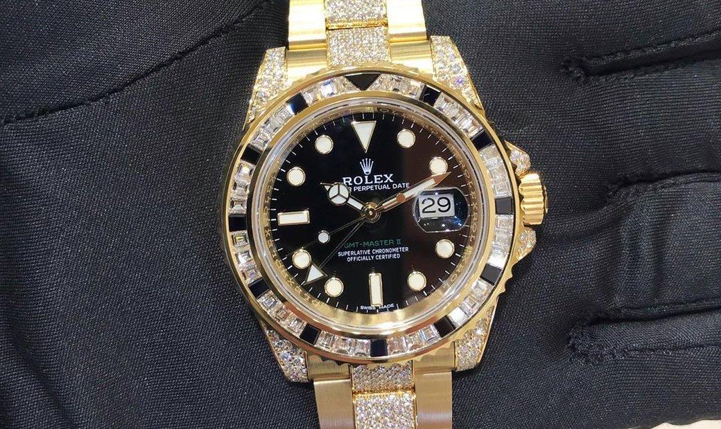 Rolex GMT-Master II 116758 SANR Yellow Gold