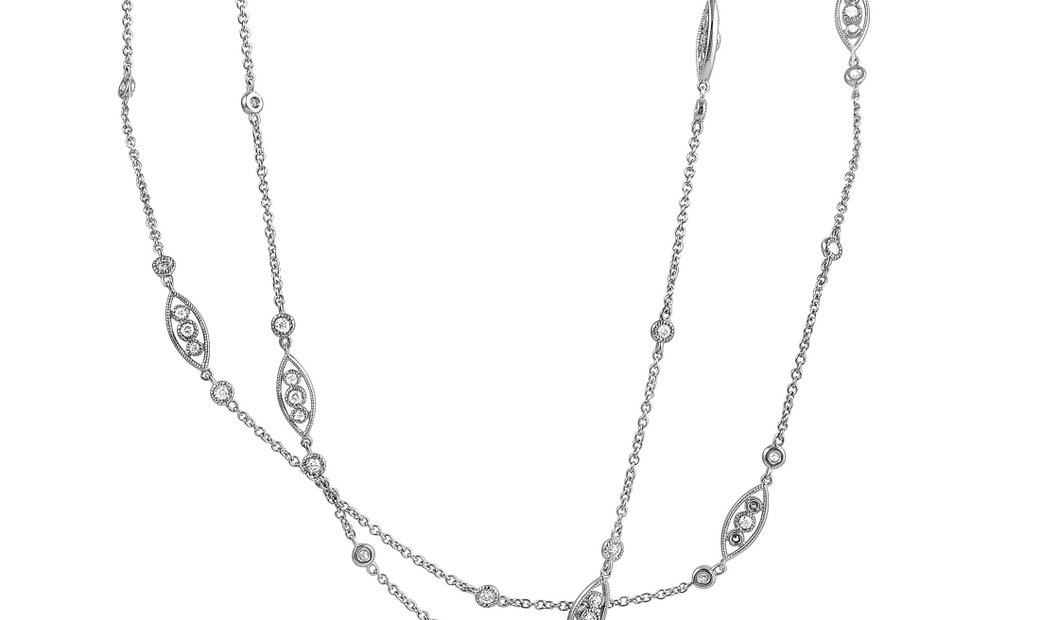 LB Exclusive LB Exclusive 18K White Gold 2.07ct Diamond Necklace