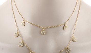 LB Exclusive LB Exclusive 18K Yellow Gold 3.75ct Diamond Multi-Strand Necklace