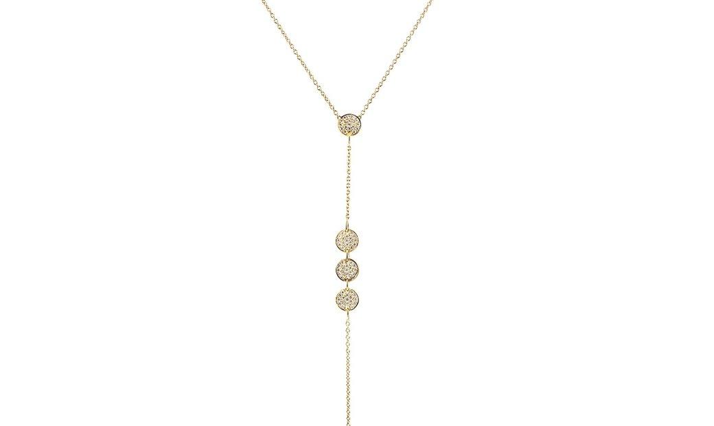 LB Exclusive LB Exclusive 18K Yellow Gold 2.90ct Diamond Pave Long Pendant Necklace