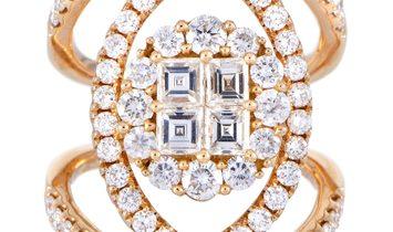 LB Exclusive LB Exclusive 18K Rose Gold Diamond Ring