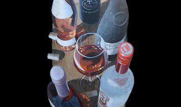 """""""Thornhaven XV"""" - trompe l'oeil - Acrylic painting on Wine Barrel Staves"""