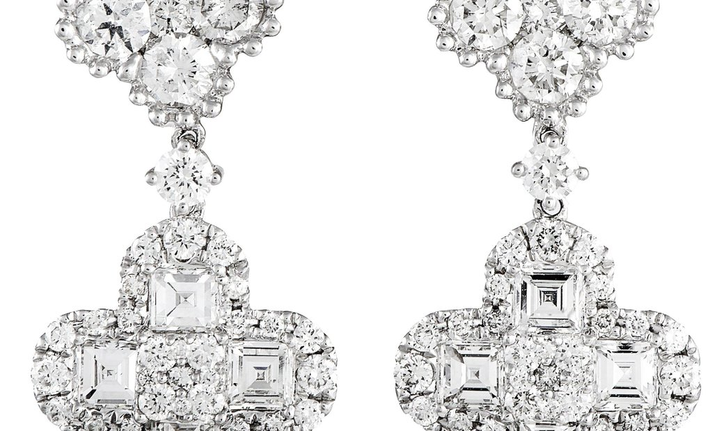 LB Exclusive LB Exclusive 18K White Gold Diamond Earrings