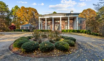 Magnificent Greek Revival Home Nestled On A Tranquil 12.5+/  Acre Country Estate