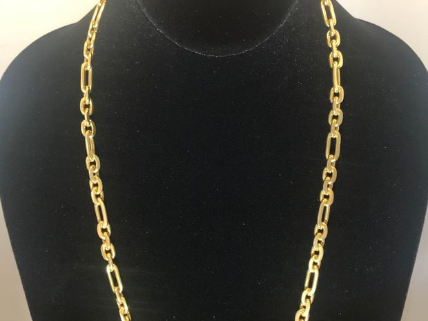 18k Solid Yellow Gold Link Chain (10773433)