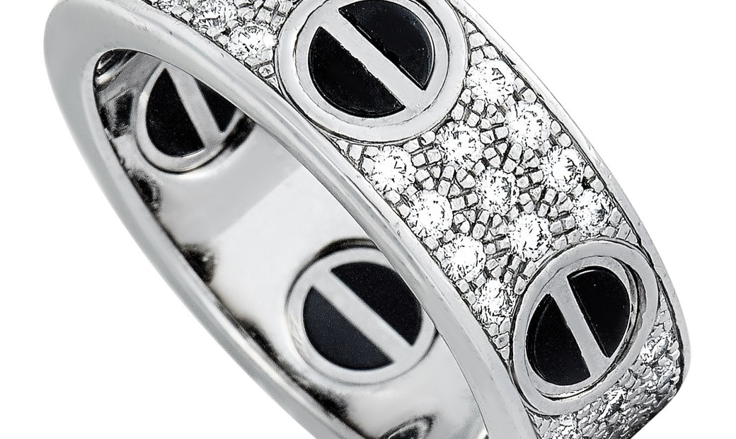 Cartier Cartier LOVE 18K White Gold Ceramic 0.74 ct Diamond Ring