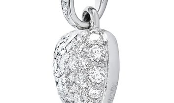 Cartier Cartier 18K White Gold 0.50 ct Full Diamond Pave Heart Pendant