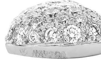 Cartier Cartier 18K White Gold ~0.75 ct Full Diamond Pave Heart Pendant