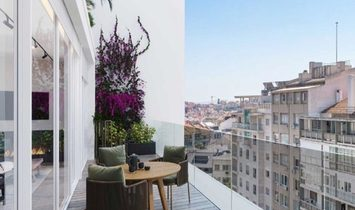 Two bedrooms apartment with terrace and garage in the city centre, Saldanha Lisbon