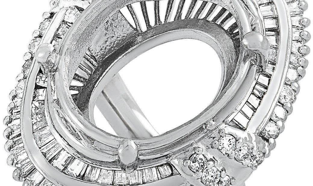 LB Exclusive LB Exclusive Platinum 1.81 ct Diamond Mounting Ring