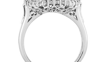 LB Exclusive LB Exclusive Platinum 0.51 ct Diamond Mounting Ring