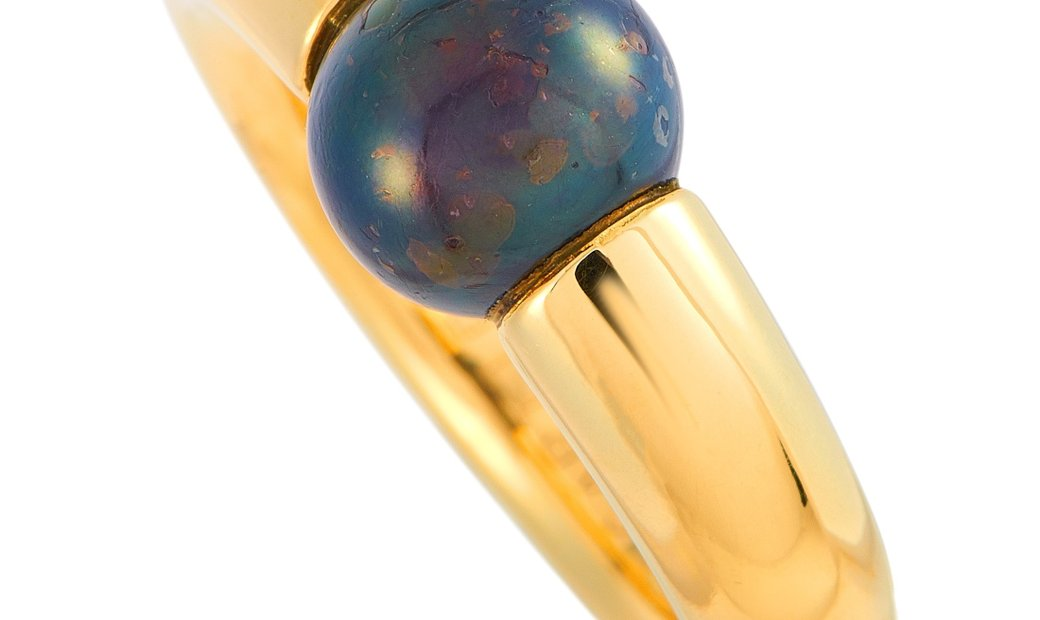 Cartier Cartier Ellipse 18K Yellow Gold and Onyx Ring