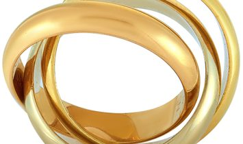Cartier Cartier Trinity 18K Yellow/White/Rose Gold Band Ring
