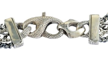 Stephen Webster Stephen Webster Rayman Silver and Black Rhodium Black Sapphire Pave Roses Large Curb