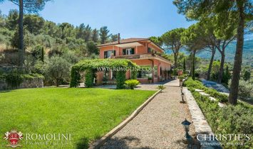 Tuscany - SEA VIEW LUXURY VILLA FOR SALE IN PORTO ERCOLE WITH UNIQUE HARBOR VIEW, ARGENTARIO