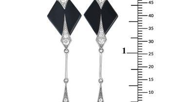 Roberto DeMeglio Roberto Demeglio 18K White Gold and Black Ceramic 0.61 ct Diamond Earrings