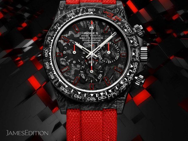 "Rolex DiW Cosmograph NTPT Carbon Daytona ""ALL CARBON RED ... (10554009)"
