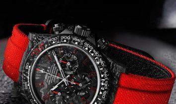 """Rolex DiW Cosmograph NTPT Carbon Daytona """"ALL CARBON RED UNIQUE"""" (Retail:US$48,990)"""