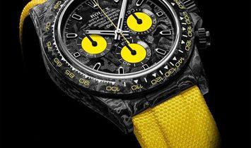 """Rolex DiW NTPT Carbon Daytona """"ALL CARBON LEMON EDITION"""" (Retail:US$55,000)"""