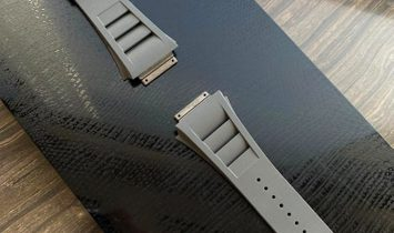 Richard Mille RM 030 Medium Vented Pale Grey Watch Band