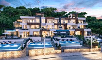 Newly built duplex penthouse frontline beach Poniente beach in Benidorm