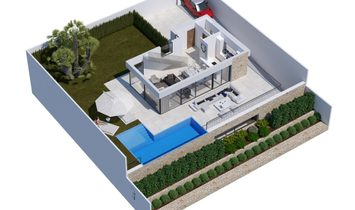 Modern villa of new construction in Sierra Cortina Finestrat with panoramic sea views