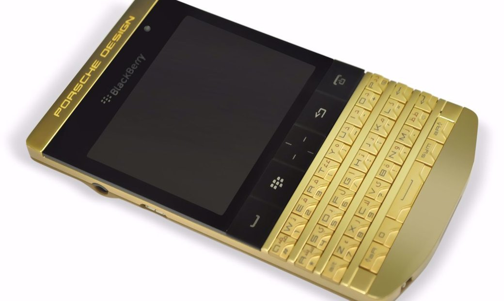 8 Units of 25 BlackBerry Porsche Design P'9981 24K Gold Emperor Limited Edition Phones with VIP PINs