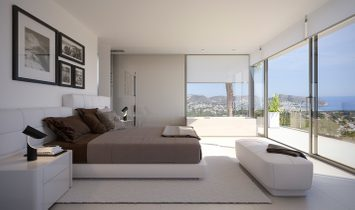Modern new construction villa for sale in Moraira with sea views