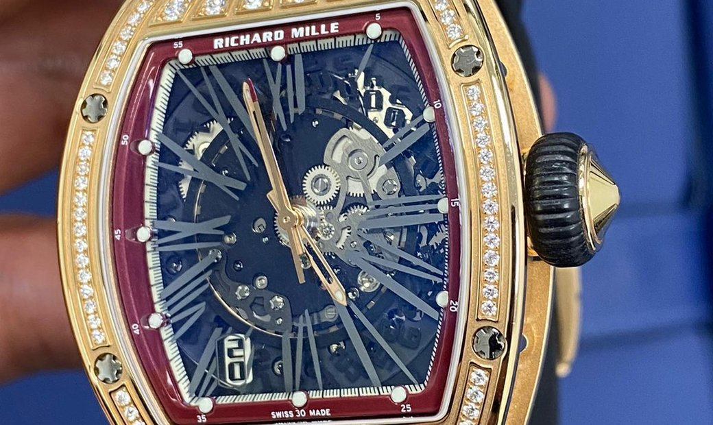 Richard Mille [NEW] RM 023 Rose Gold Med Set Diamonds Mens Watch