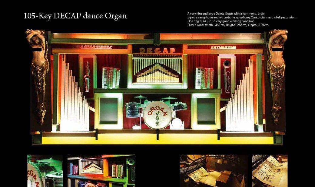 105-Key DECAP dance Organ