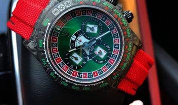 "Rolex DiW NTPT Carbon Daytona ""LUCKY PLAYER CASINO"""
