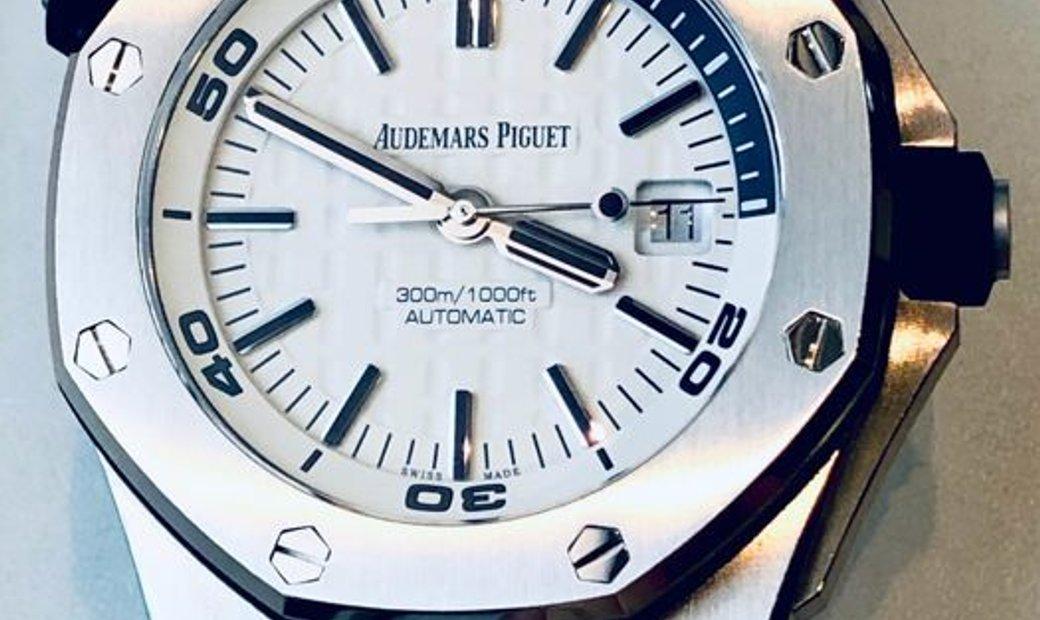Audemars Piguet [NEW] Royal Oak Offshore Diver White Dial Watch 15710ST