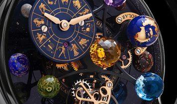Jacob & Co. 捷克豹 [NEW MODEL] Astronomia Solar Planets Black Gold Tourbillon (Retail:US$318,000)