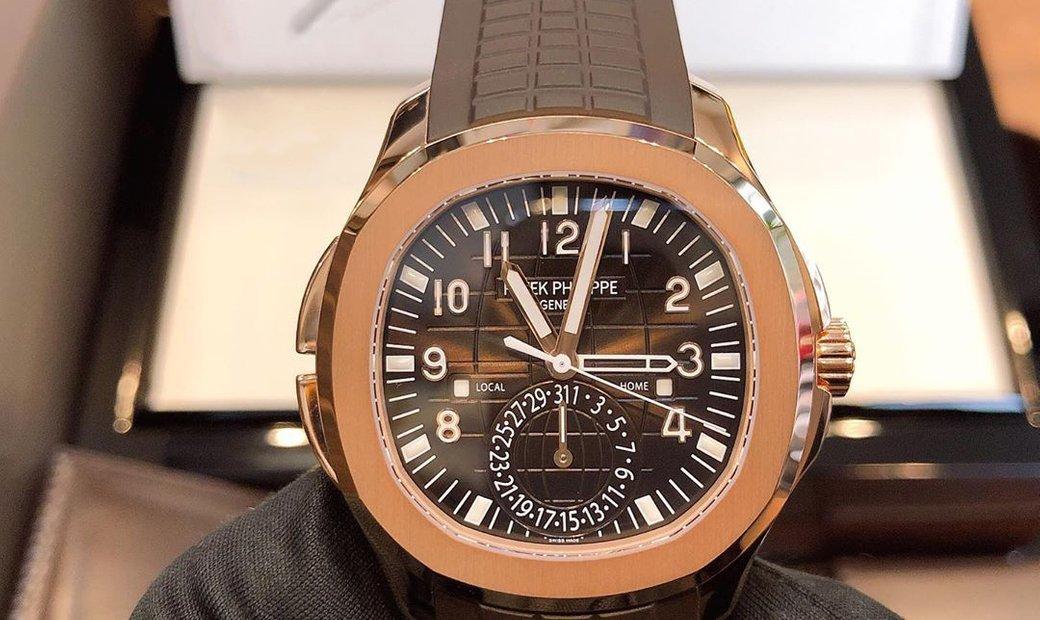 Patek Philippe Aquanaut Travel Time 5164R-001 Rose Gold