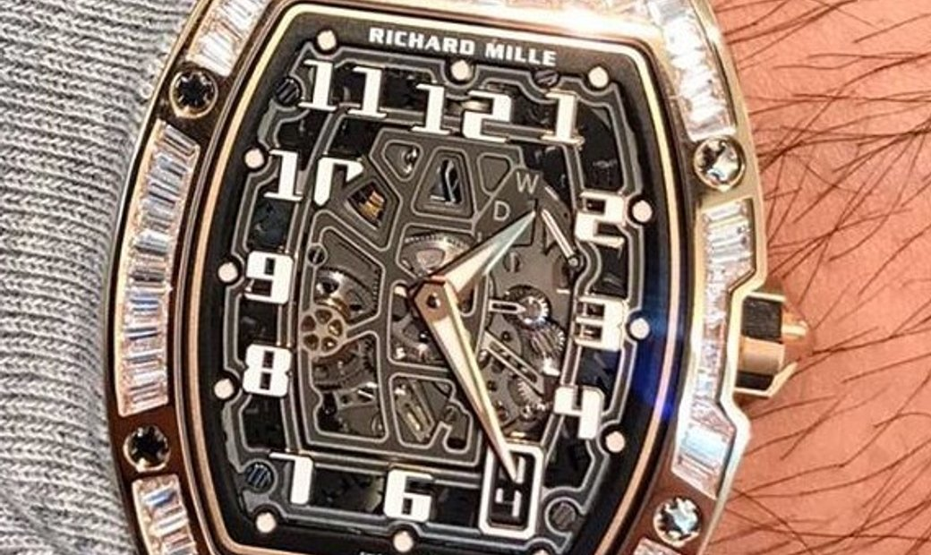 Richard Mille RM 067-01 Extra Flat in Rose Gold Diamond Set