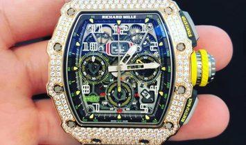 Richard Mille RM 11-03 Rose Gold and Titanium with Diamond Bezel