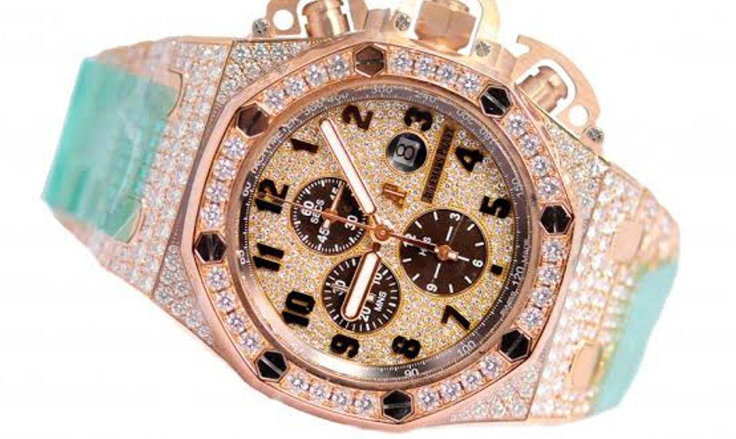Audemars Piguet Royal Oak Offshore 26215OR.ZZ.1239OR.01 Rose Gold Full Diamond Set