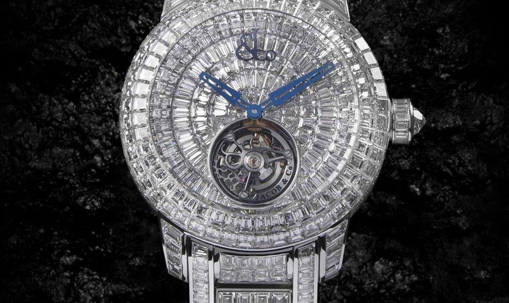 Jacob & Co. 捷克豹 [NEW] Caviar Tourbillon Diamond Bracelet 44mm CV300.30.BD.BD.A30BA