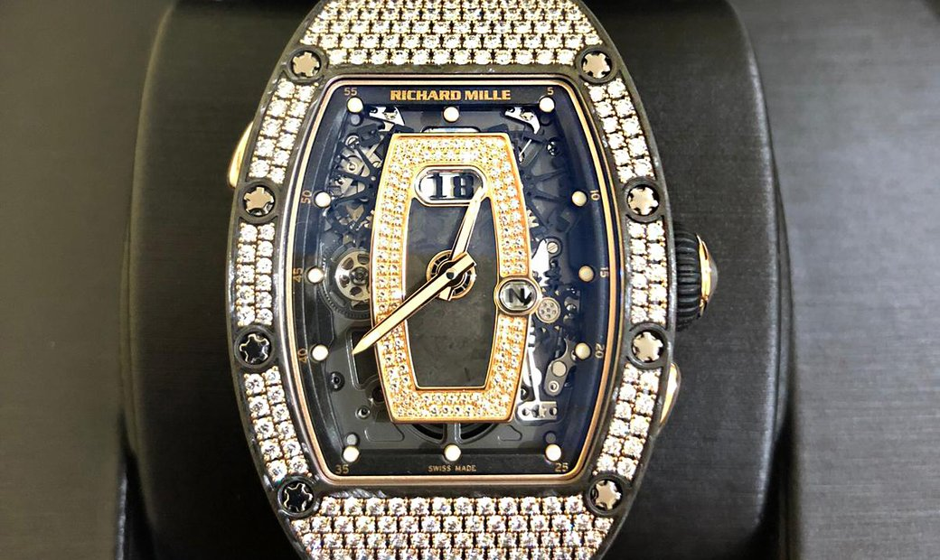 Richard Mille [NEW] RM 037 NTPT Full Pave Diamonds Ladies Watch