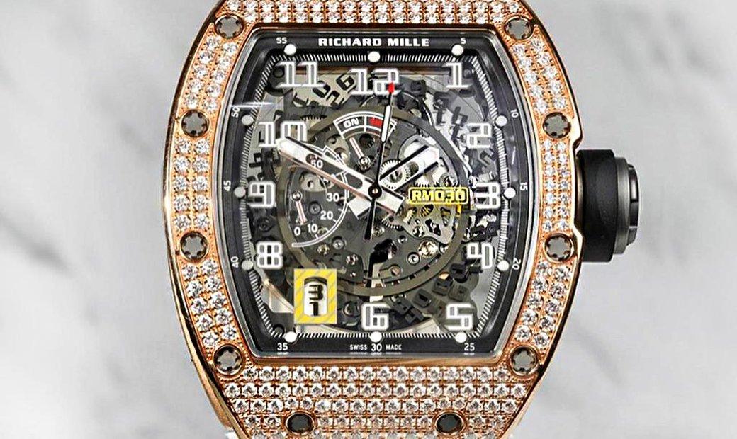Richard Mille RM 030 Rose Gold Diamonds Mens Watch