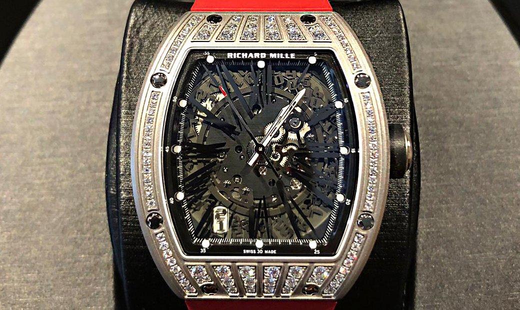 Richard Mille [NEW] RM 023 Titanium Med Set Diamonds Mens Watch