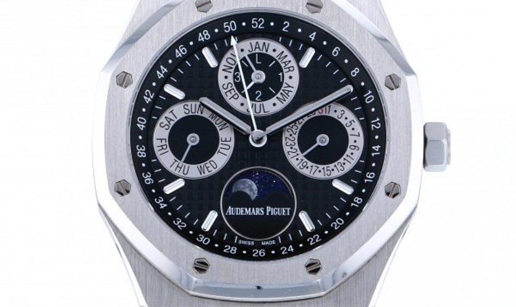 Audemars Piguet [NEW] Royal Oak Perpetual Calendar Japan Edition Platinum 26597PT Mens Watch