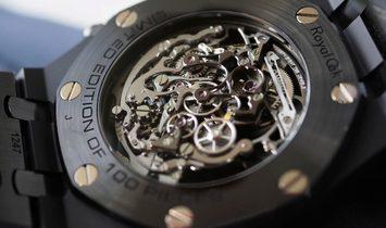 Audemars Piguet [NEW] Royal Oak Tourbillon Chronograph Openworked Black Ceramic 26343CE