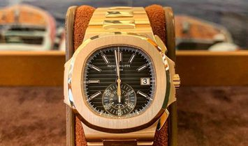 Patek Philippe [NEW] 5980/1R Nautilus Black Dial Rose Gold Chronograph