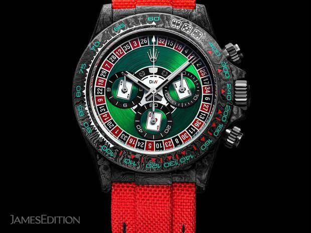 "Rolex DiW NTPT Carbon Daytona ""LUCKY PLAYER CASINO"" (10570305)"
