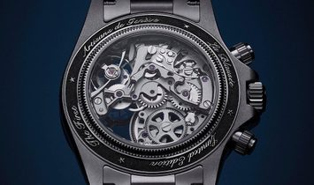 "Rolex Artisans de Genève [NEW] ""La Blausee"" Skeletonized Steel Daytona"