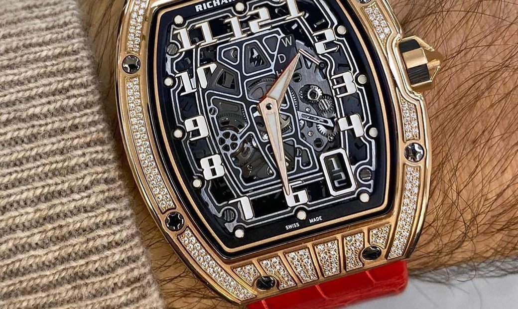 Richard Mille [NEW] RM 67-01 Rose Gold Med Set Diamonds Automatic Extra Flat